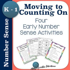 Five early number sense ideas to use in your math classroom with Kindergarten and First grade!